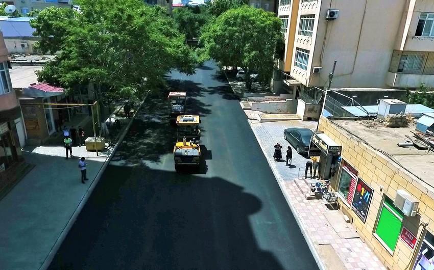 Bakının Nəsimi rayonunda küçələr təmir edilir
