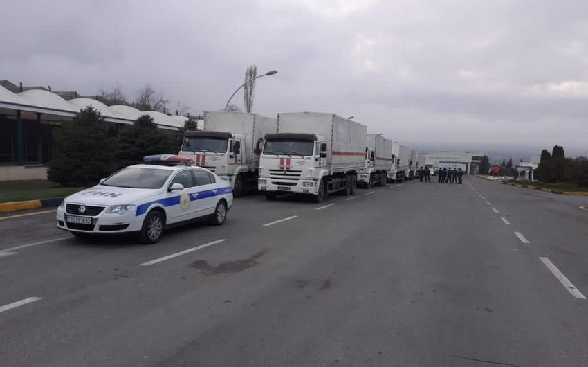 Rusiya Şuşa və Xankəndinə humanitar yardım göndərib