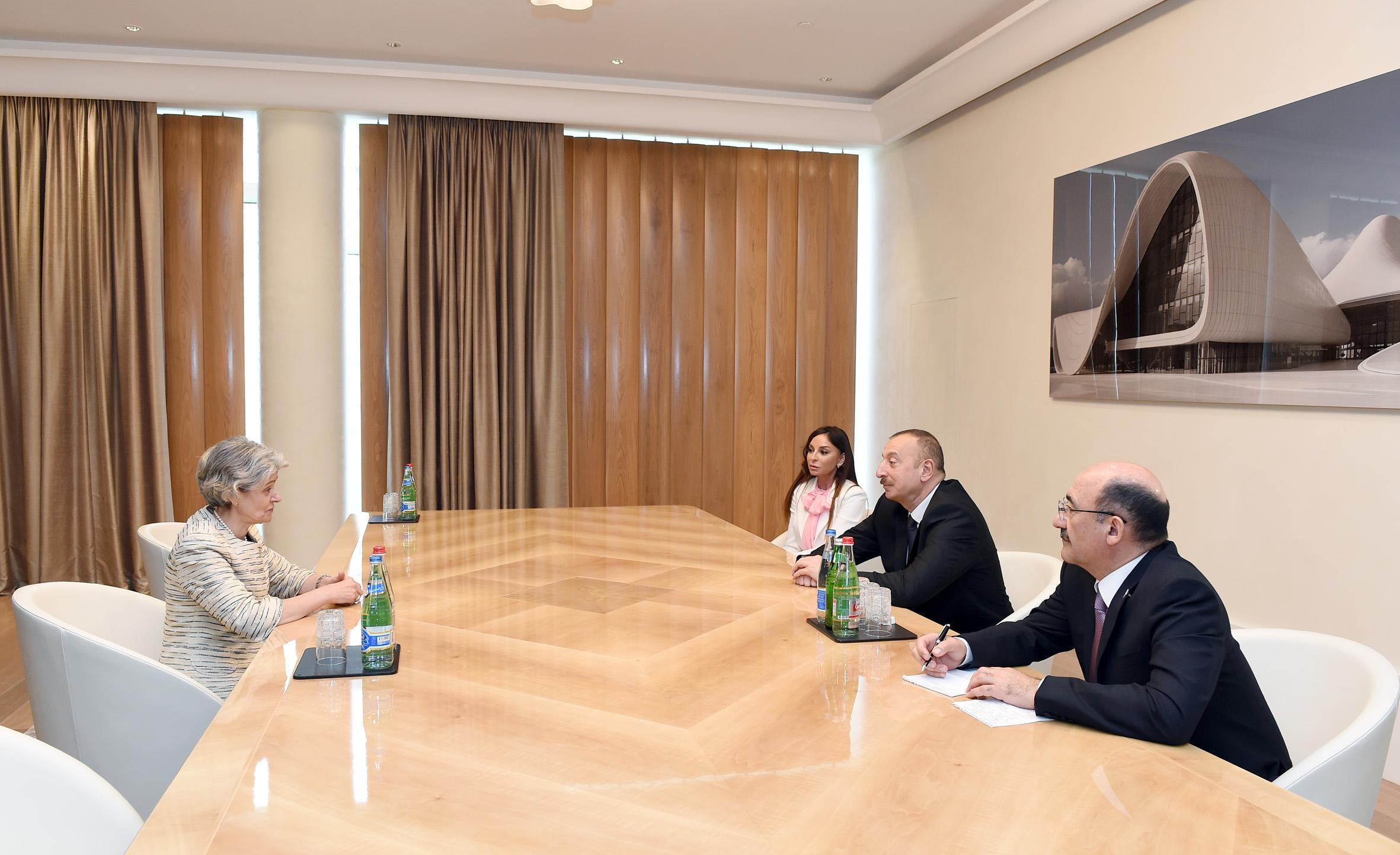 Президент Ильхам Алиев встретился с генеральным директором ЮНЕСКО