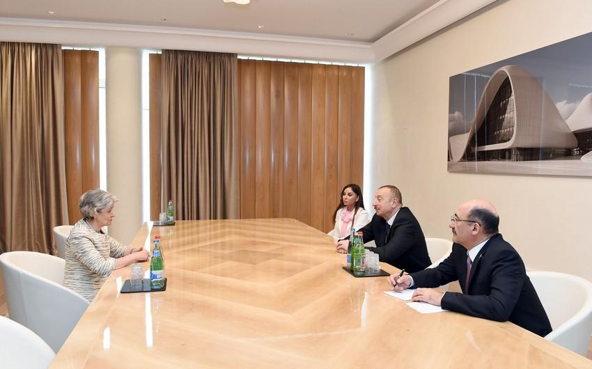 Prezident İlham Əliyevin və birinci xanım Mehriban Əliyevanın UNESCO-nun baş direktoru ilə görüşü olub - ƏLAVƏ OLUNUB