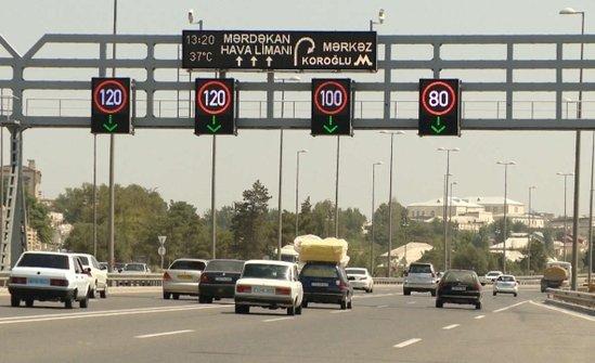 На бакинских дорогах восстановлена максимально допустимая скорость движения