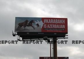 ABŞ-ın böyük şəhərlərində Qarabağ Azərbaycandır! lövhələri quraşdırılıb