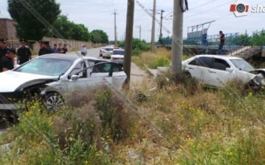 Ermənistanda yol qəzasında hərbi polis yaralanıb