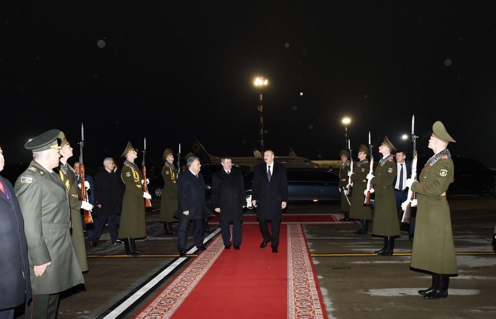 President Ilham Aliyev completes official visit to Belarus
