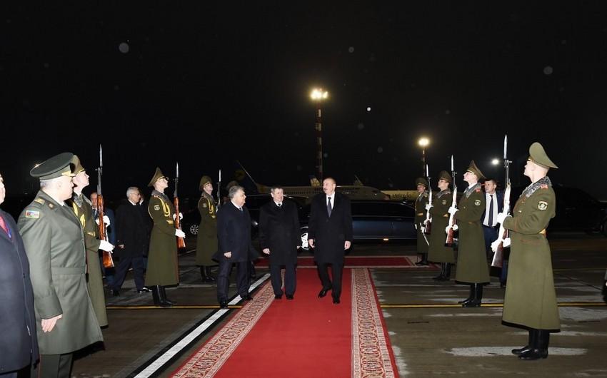 Завершился официальный визит президента Ильхама Алиева в Беларусь