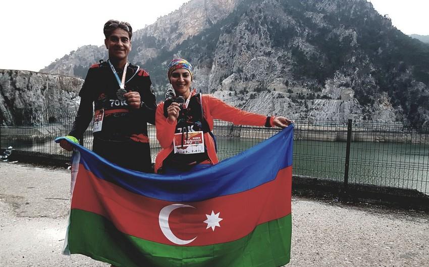 Azərbaycanlı atletlər Manavqat ultramarafonunda iştirak ediblər