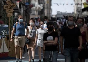 Fransada bir gündə 52 mindən çox yoluxma qeydə alındı