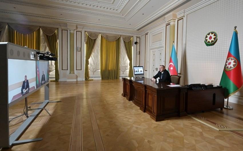 Prezident yeni icra başçısını videoformatda qəbul etdi - YENİLƏNİB