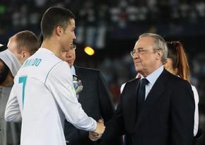 Криштиану Роналду провел встречу с президентом Реала