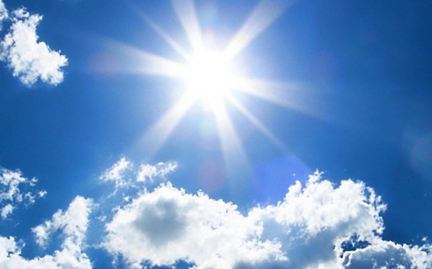 Sabah havanın temperaturu 28 dərəcəyədək artacaq