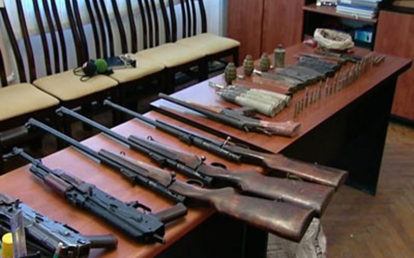 В Сумгаите обнаружены оружие и боеприпасы