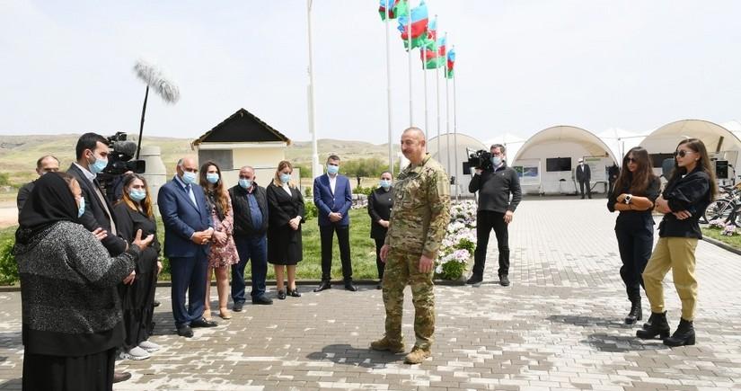 Ильхам Алиев ознакомился с работами в селе Агалы Зангиланского района