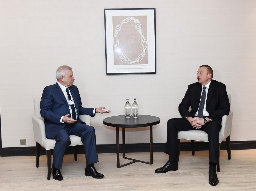 В Давосе состоялась встреча Президента Ильхама Алиева с президентом компании LUKoil