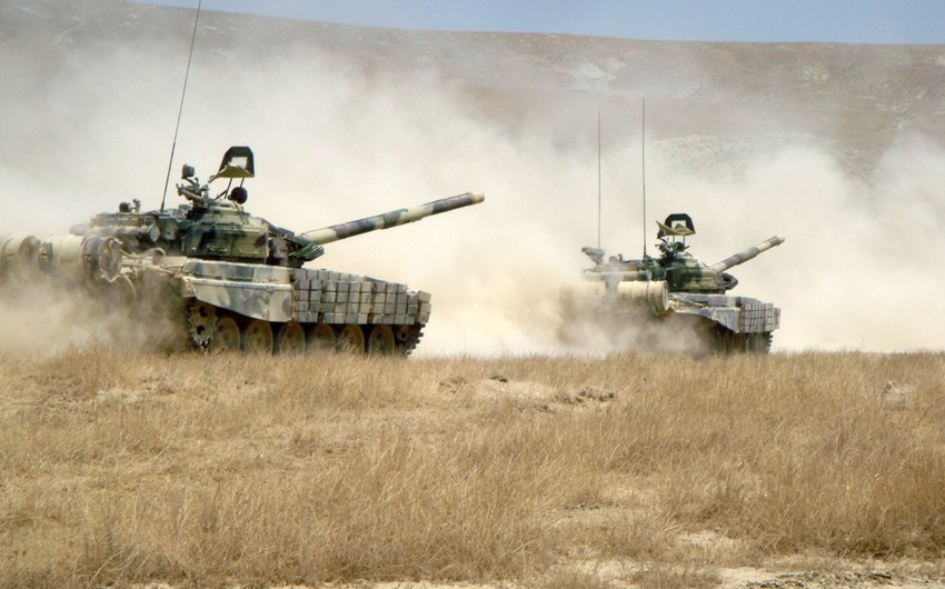 Tank units of Azerbaijani Army held exercises - VIDEO