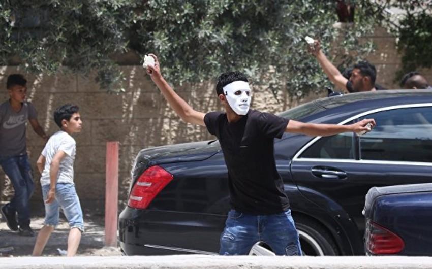 Fələstinin Ramallah şəhərində etirazlar başlayıb - VİDEO