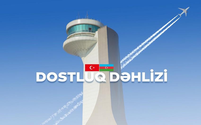 Новый воздушный коридор между Азербайджаном и Турцией назван Коридором Дружбы  - ВИДЕО