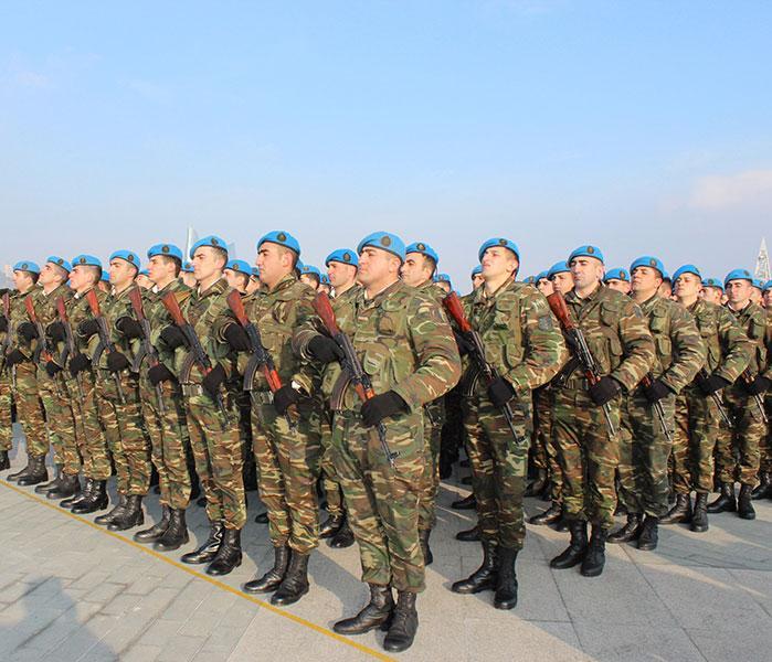 Azerbaijani military servants attending NATO events
