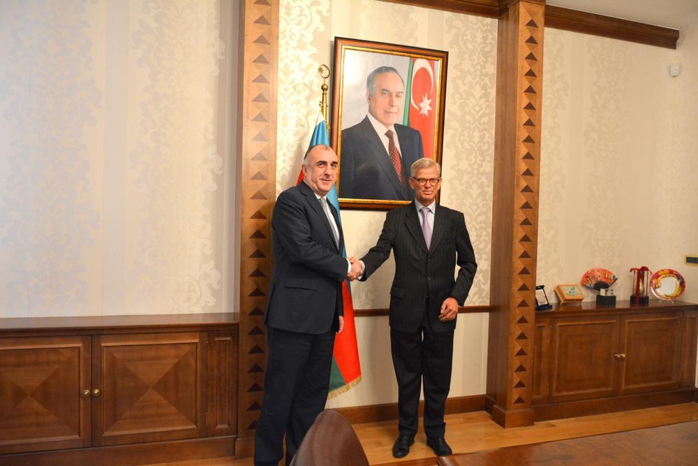 Elmar Mammadyarov received newly appointed Dutch Ambassador