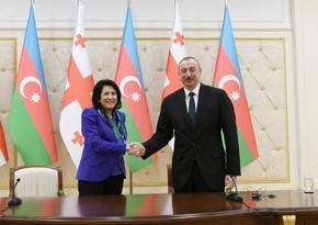 Georgian President congratulates Ilham Aliyev