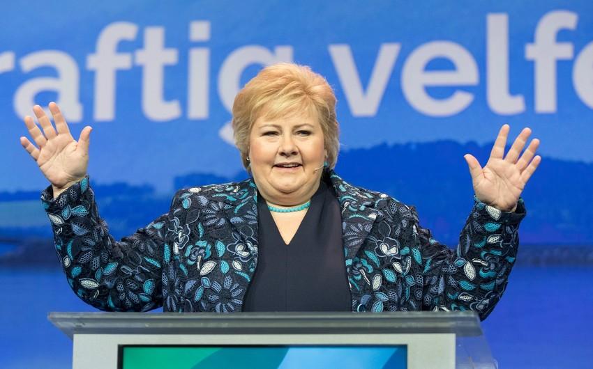 Norveçin baş naziri doqquzuncu dəfə deputat seçilir