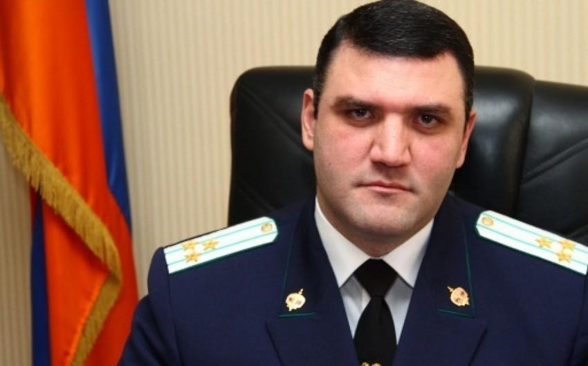 Ermənistanın keçmiş baş prokuroruna qarşı ittihamlar irəli sürüləcək