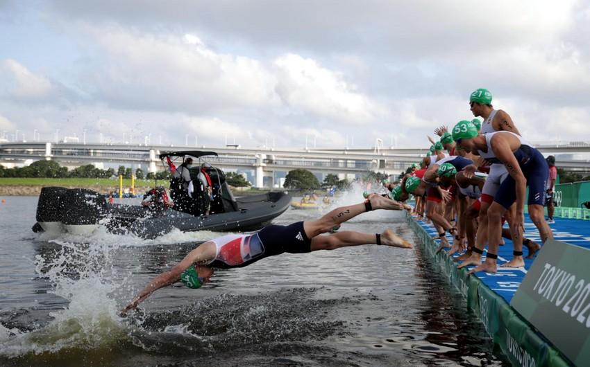 Tokio-2020: Triatlonçular faciədən son anda xilas oldular
