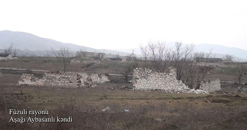 Füzulinin Aşağı Aybasanlı kəndindən videogörüntülər