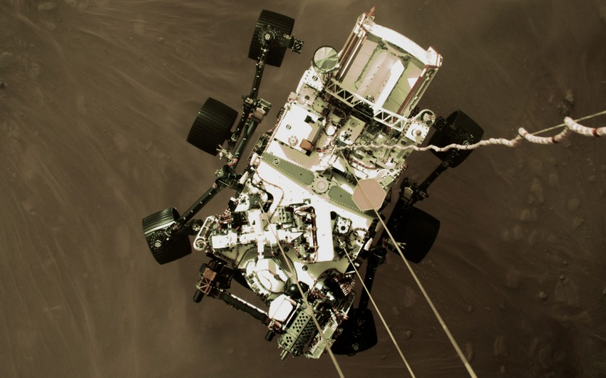 NASA's Perseverance rover takes its first test drive on Mars