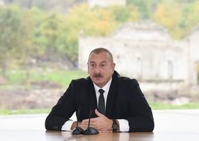 Ильхам Алиев: Это наша победа, победа азербайджанского народа