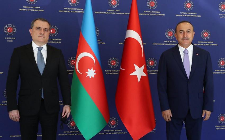 Azərbaycan və Türkiyənin XİN başçıları arasında  -