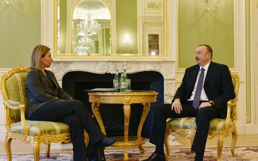 Azərbaycan Prezidenti ilə Avropa İttifaqının ali nümayəndəsi arasında görüş keçirilib