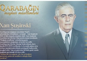 Знаменитые учителя Карабаха – Хан Шушинский
