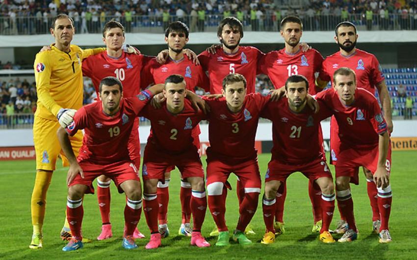 Сборная Азербайджана сохранила позицию в рейтинге ФИФА