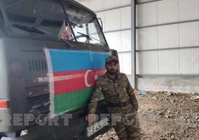 Герой, отправившийся на войну на собственном грузовике