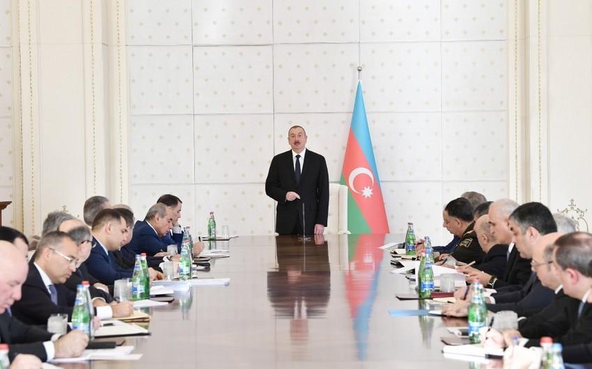 Под председательством президента Ильхама Алиева состоялось заседание Кабинета министров
